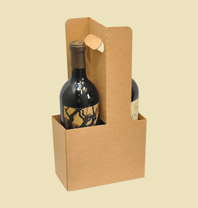 Custom Wine Bottle Carriers & Tote Boxes