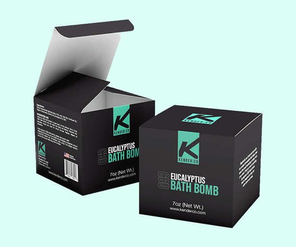 Custom Printed Bath Bomb Boxes