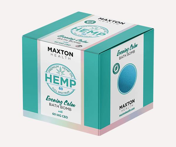 CBD Hemp Bath Bomb Boxes