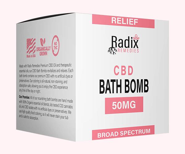 Custom CBD Hemp Bath Bomb Boxes