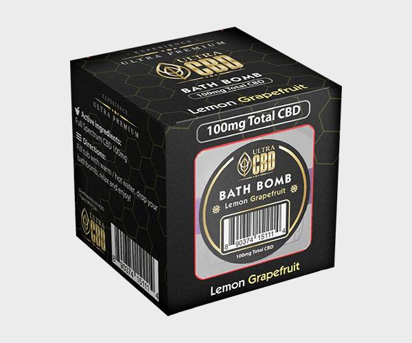 CBD Hemp Bath Bomb Box Packaging