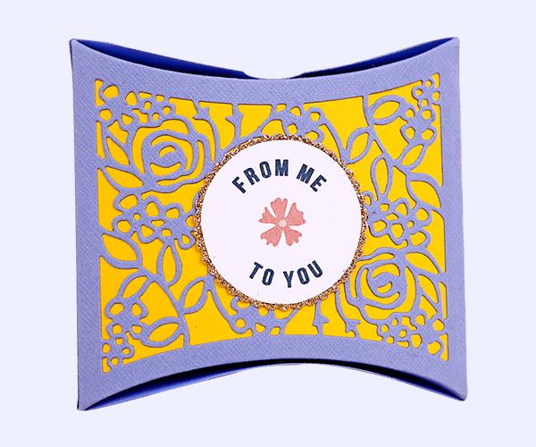 Custom Pillow Die Cut Box