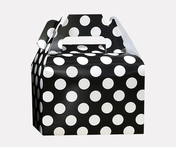 Polka Dot Gable Gift Boxes