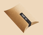 kraft pillow style box