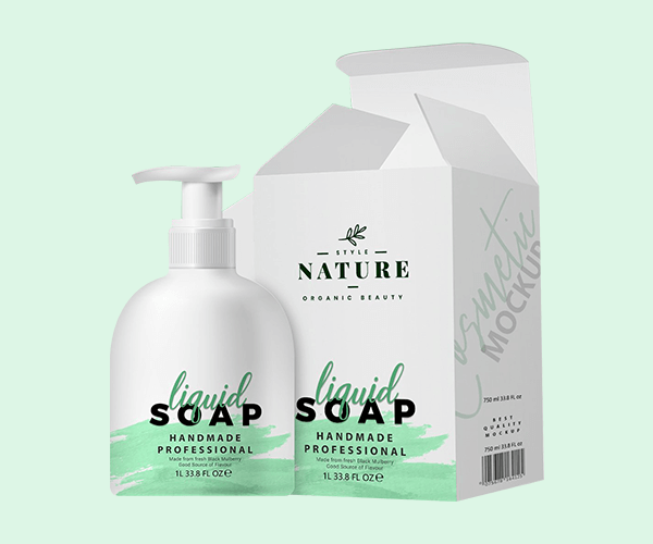 Custom Liquid Soap Box Packaging