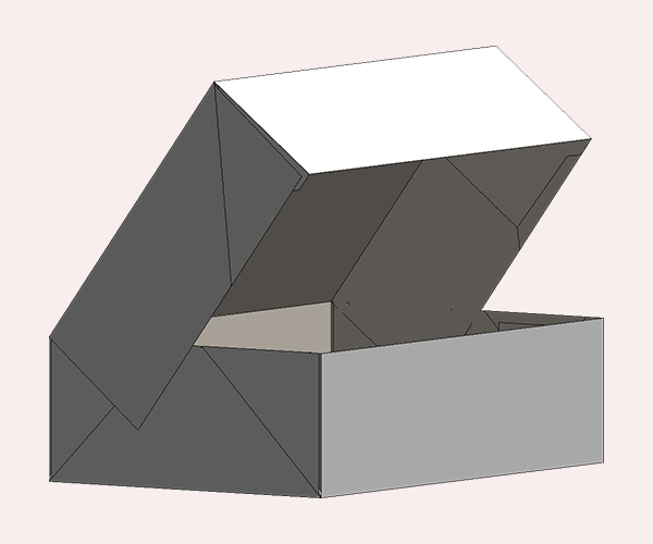 Six Corner Tray With Lid