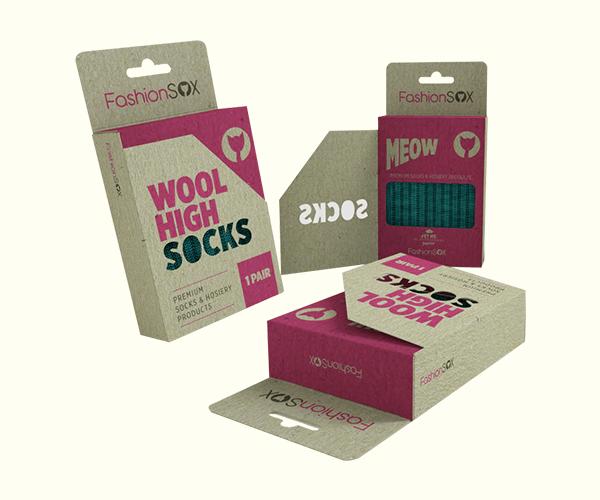 Custom Printed Socks Box Packaging