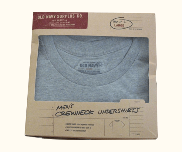 Custom Printed Undershirt Packaging Boxes