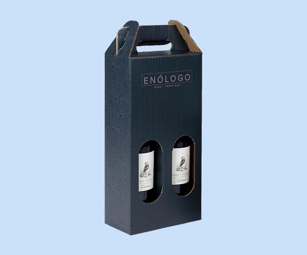 Custom Wine Bottle Tote Box