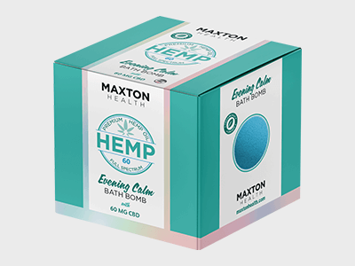 Custom Printed CBD Hemp Bath Bomb Boxes