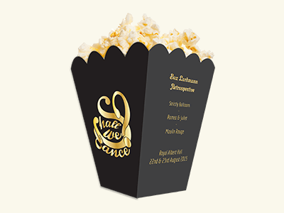 Custom Printed Popcorn Boxes