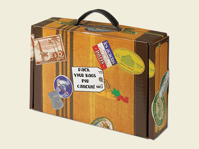 Custom Cardboard Suitcase Boxes