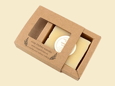 Cardboard Tray and Sleeve for Soaps